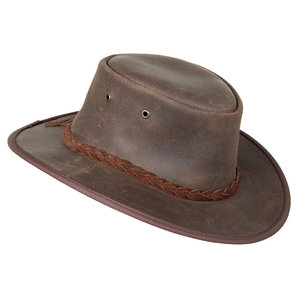 Barmah Hats Lederhut Braun