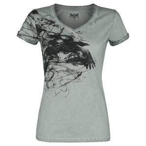 Black Premium Shades of Truth Damen T-Shirt Grau