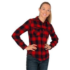 Brandit Amy Flanell Bluse Rot Schwarz