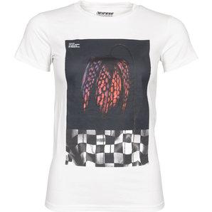 Dainese Demon-Flower72 Damen T-Shirt Weiss