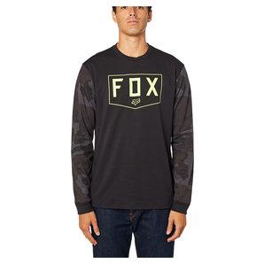FOX Shield LS Tech Tee Langarmshirt Schwarz Camouflage