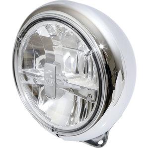 Highsider LED-Scheinwerfer HD-Style- chrom- 7 Zoll