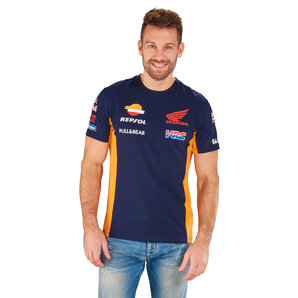 Honda Replica Team Louis Special T-Shirt Blau Orange HRC