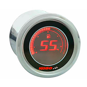 Koso digitale Benzinstandsanzeige - 48mm- Rote LCD Anzeige