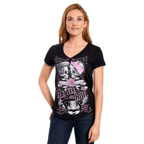 Lethal Angel Rattle N Roll Damen T-Shirt Schwarz