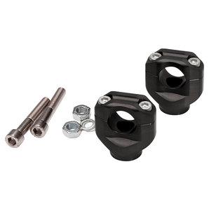 LSL Universal Klemmböcke 38 mm hoch 22-2 mm- mit ABE- in schwarz oder silber