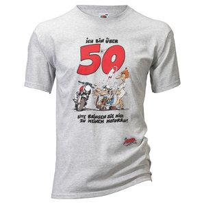 Motomania Über 50 T-Shirt Grau