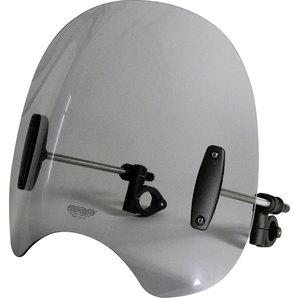 MRA Roadshield Windschutzscheibe inkl- 28-32 mm Haltesatz- rauchgrau