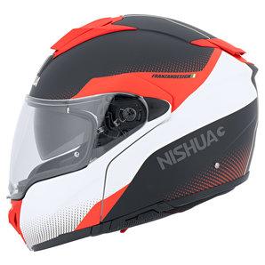 Nishua NFX-3 Klapphelm Matt Schwarz Weiss Rot NISHUA