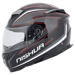 Nishua NRX-2 Integralhelm Schwarz Weiss Rot NISHUA