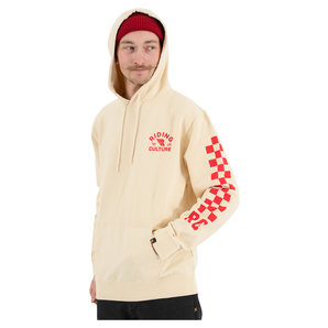 Riding Culture Checkerboard Hoodie Weiss