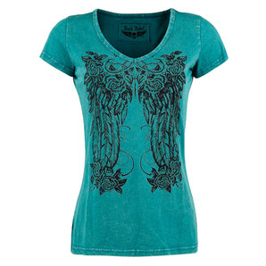 Rock Rebel Shades of Truth Damen T-Shirt Blau