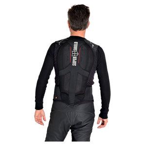 Super Shield Protektorenweste Jacke Schwarz Grau