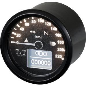 TundT elektronischer Tachometer 48mm- - 220 km-h Tumbleton and Twist