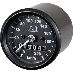 TundT mechanischer Tachometer -220 KM-H- k-Wert 1-4- M12 Tumbleton and Twist