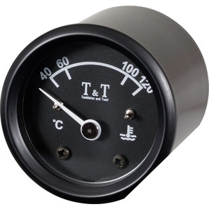 TundT Wassertemperaturanzeige 48 mm- schwarz Tumbleton and Twist