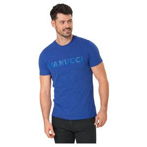 Vanucci Logo-Tee T-Shirt Blau