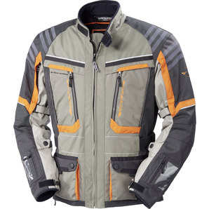 Vanucci Tanami II Textiljacke Grau Anthrazit Orange