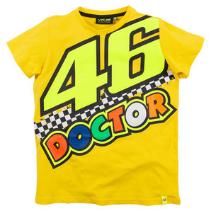 VR46 46 The Doctor Kinder T-Shirt Gelb Valentino Rossi